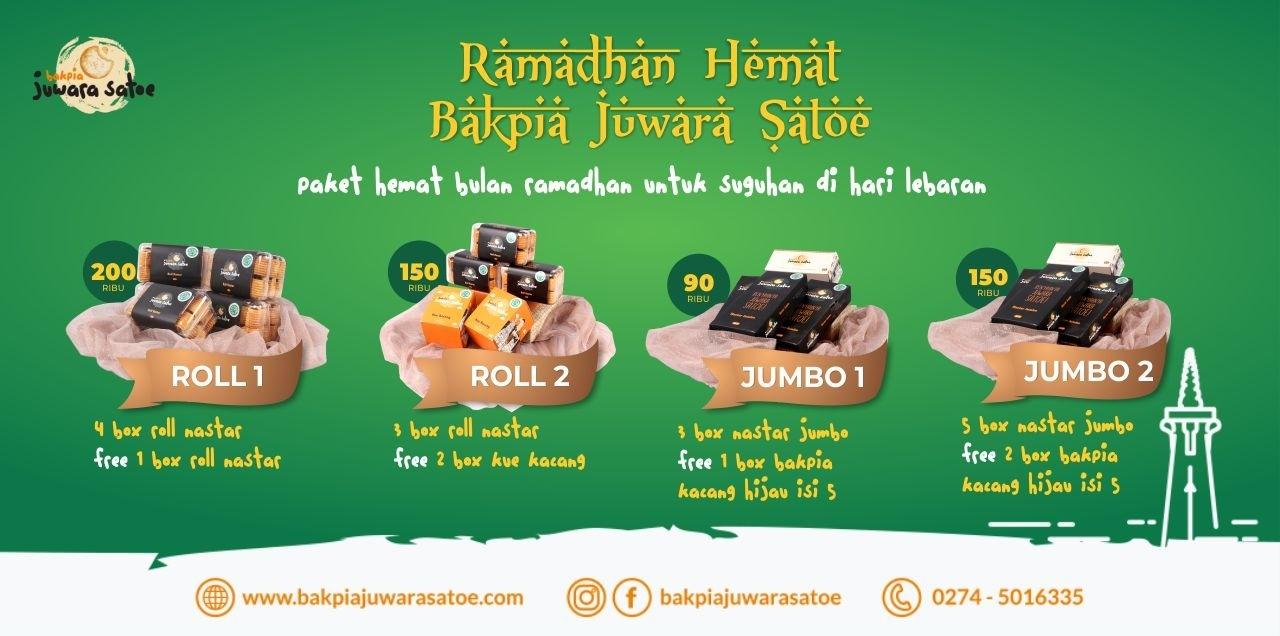 Paket Hemat Bulan Ramadan Bakpia Juwara Satoe